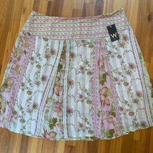Worthington floral A-line skirt